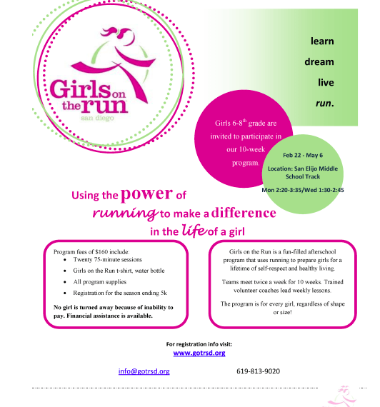 Girls on the Run -Fall Registration Begins August 20, 2018