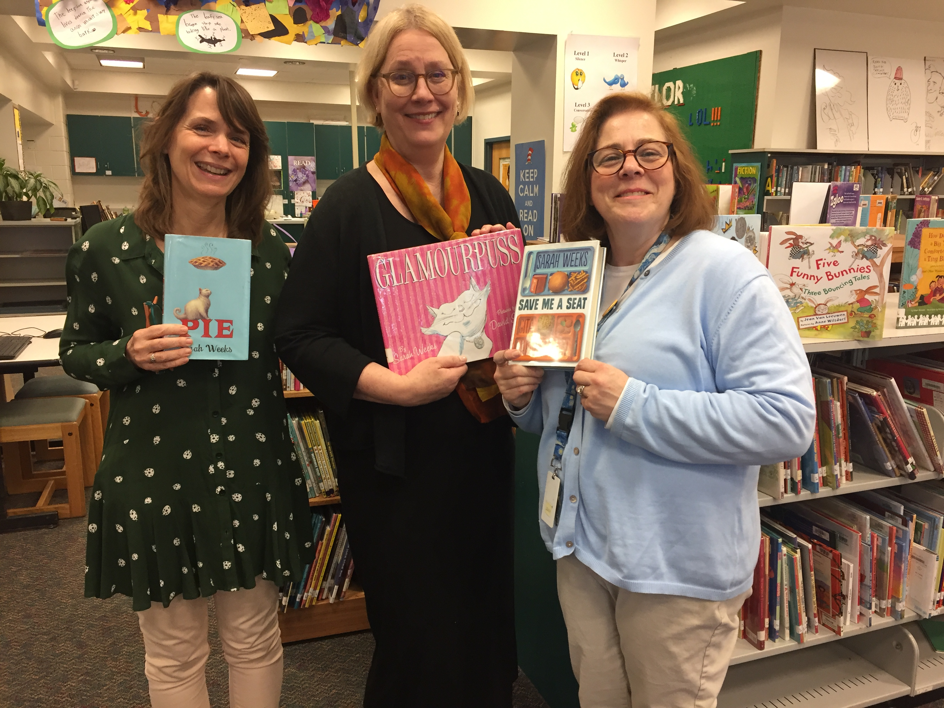 Thank You Ms. Reilly and Ms. Toole Hosting  Author Sarah Weeks