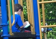 Reading Poetry on The Playground